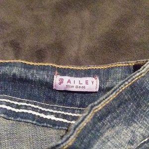 "Hydraulic Jeans - Hydraulic ""Bailey"" Slim Boot Cut Distressed Jeans"